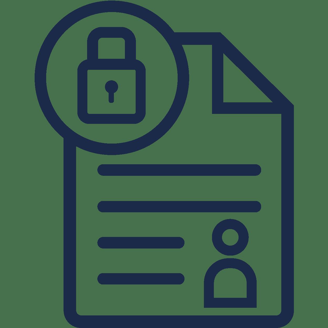 Hantering av personuppgifter icon
